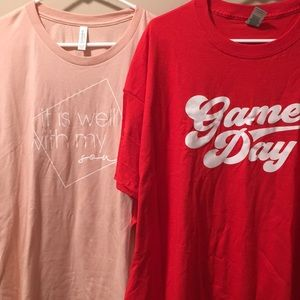 TWO Women's 3X t-shirts NEW